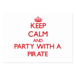 Behalten Sie Ruhe und Party mit einem Piraten Visitenkartenvorlage