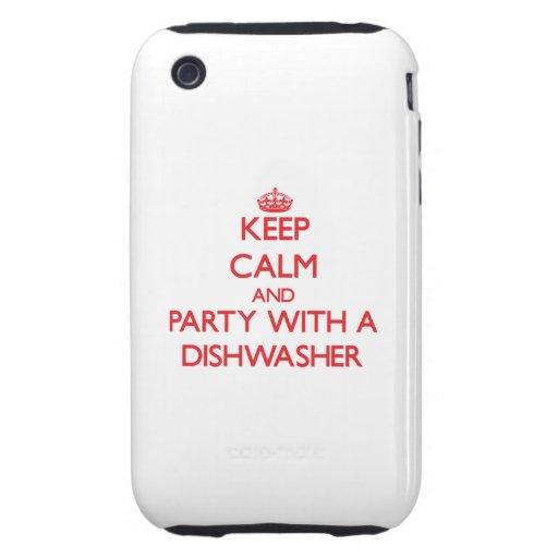 Behalten Sie Ruhe und Party mit einer Spülmaschine Tough iPhone 3 Hüllen