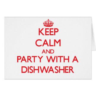 Behalten Sie Ruhe und Party mit einer Spülmaschine Karten