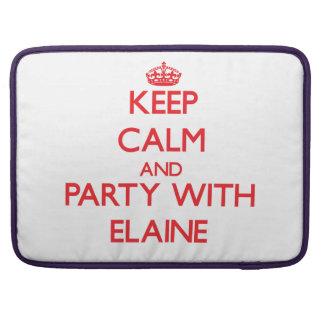 Behalten Sie Ruhe und Party mit Elaine Sleeves Für MacBooks