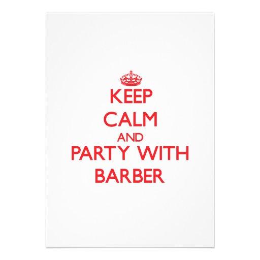 Behalten Sie Ruhe und Party mit Friseur Individuelle Ankündigung