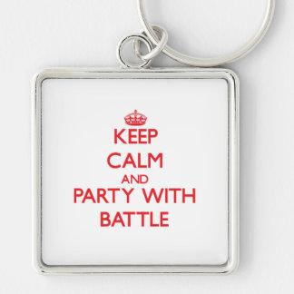 Behalten Sie Ruhe und Party mit Kampf