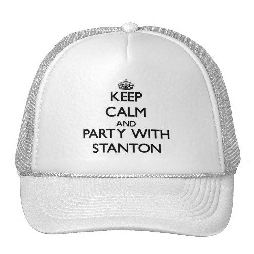 Behalten Sie Ruhe und Party mit Stanton Caps