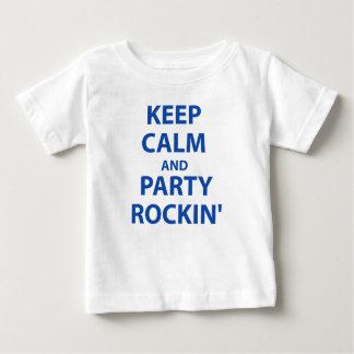 Behalten Sie Ruhe und Party Rockin Baby T-shirt