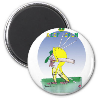 behalten Sie Ruhe und passen Sie Ihre hinteren, Runder Magnet 5,7 Cm