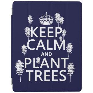 Behalten Sie Ruhe und Pflanzen-Bäume (alle Farben) iPad Hülle