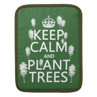 Behalten Sie Ruhe und Pflanzen-Bäume (alle Farben) Sleeve Für iPads