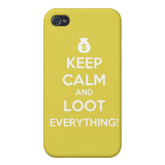 behalten Sie Ruhe und plündern Sie alles! iphone 4 iPhone 4 Etui