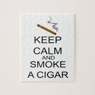 Behalten Sie Ruhe und rauchen Sie eine Zigarre Puzzle