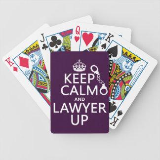 Behalten Sie Ruhe und Rechtsanwalt oben Bicycle Spielkarten