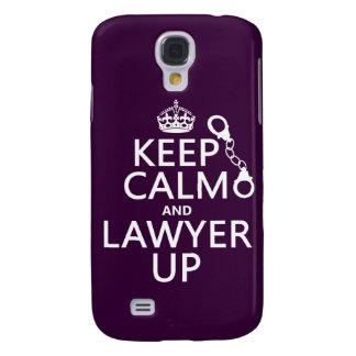 Behalten Sie Ruhe und Rechtsanwalt oben Galaxy S4 Hülle