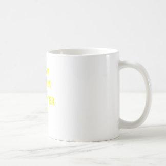 Behalten Sie Ruhe und Rechtsanwalt oben Kaffeetasse