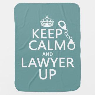 Behalten Sie Ruhe und Rechtsanwalt oben Kinderwagendecke
