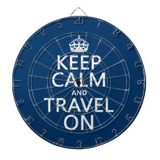 Behalten Sie Ruhe und reisen Sie an Dartscheibe