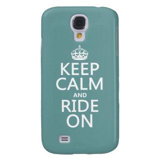 Behalten Sie Ruhe und reiten Sie an, kundengerecht Galaxy S4 Hülle