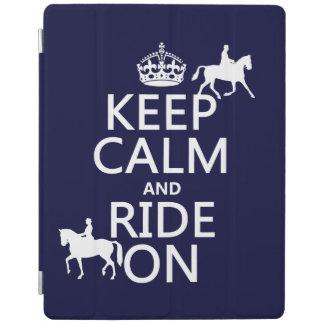 Behalten Sie Ruhe und reiten Sie an - Pferde, alle iPad Hülle
