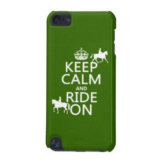 Behalten Sie Ruhe und reiten Sie an - Pferde, alle iPod Touch 5G Hülle