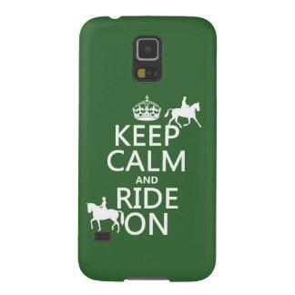 Behalten Sie Ruhe und reiten Sie an - Pferde, alle Samsung Galaxy S5 Hülle