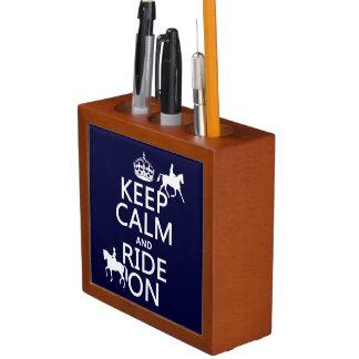 Behalten Sie Ruhe und reiten Sie an - Pferde, alle Stifthalter
