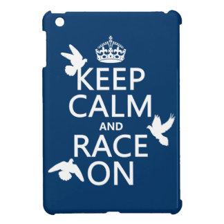 Behalten Sie Ruhe und Rennen auf (Tauben) (alle iPad Mini Hülle