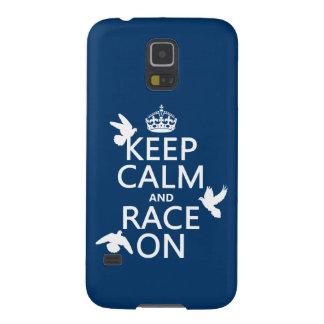 Behalten Sie Ruhe und Rennen auf (Tauben) (alle Samsung Galaxy S5 Cover