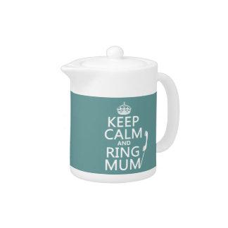 Behalten Sie Ruhe-und Ring-Mama - alle Farben