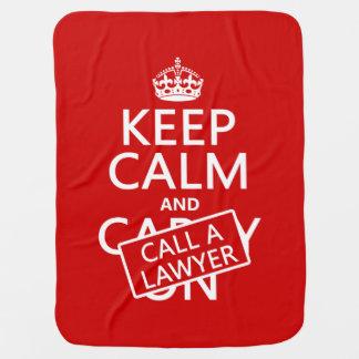 Behalten Sie Ruhe und rufen Sie einen Rechtsanwalt Puckdecke