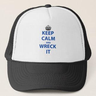 Behalten Sie Ruhe und ruinieren Sie sie! Truckerkappe