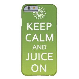 Behalten Sie Ruhe und Saft an! Rufen Sie Fall an Barely There iPhone 6 Hülle