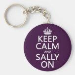 Behalten Sie Ruhe und Sally auf (irgendeine Farbe) Schlüsselband