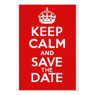 BEHALTEN Sie RUHE und Save the Date 12,7 X 17,8 Cm Einladungskarte
