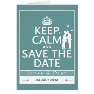 Behalten Sie Ruhe und Save the Date (völlig Grußkarte