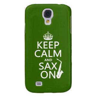 Behalten Sie Ruhe und Sax (Saxophone) auf Galaxy S4 Hülle
