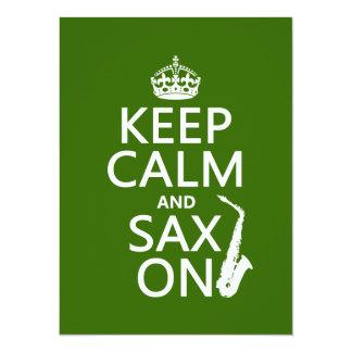 Behalten Sie Ruhe und Sax (Saxophone) auf Karte