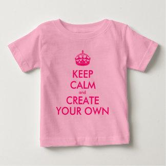 Behalten Sie Ruhe und schaffen Sie Ihre Selbst - Baby T-shirt