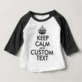 Behalten Sie Ruhe und schaffen Sie Ihre Selbst Baby T-shirt
