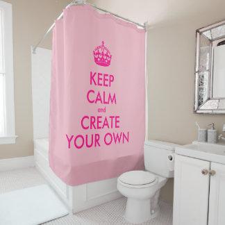 Behalten Sie Ruhe und schaffen Sie Ihre Selbst - Duschvorhang