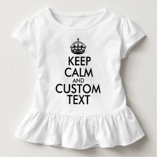 Behalten Sie Ruhe und schaffen Sie Ihre Selbst Kleinkind T-shirt