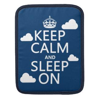 Behalten Sie Ruhe und schlafen Sie auf (fertigen iPad Sleeve