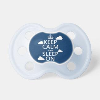 Behalten Sie Ruhe und schlafen Sie auf (fertigen Schnuller