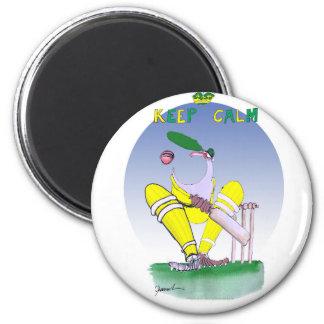 behalten Sie Ruhe und schließen Sie Ihren Gob, Runder Magnet 5,1 Cm