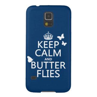 Behalten Sie Ruhe und Schmetterlinge (irgendeine Samsung S5 Hülle