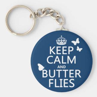 Behalten Sie Ruhe und Schmetterlinge (irgendeine Schlüsselanhänger