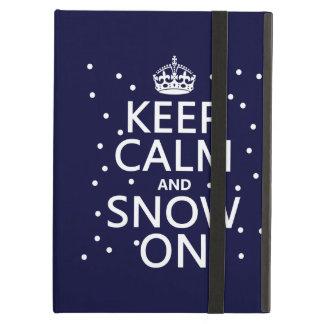 Behalten Sie Ruhe und Schnee an