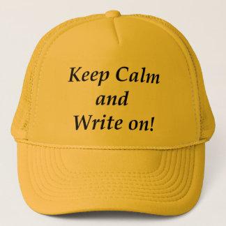 Behalten Sie Ruhe und schreiben Sie an Truckerkappe