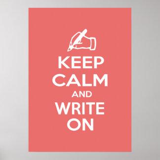 Behalten Sie Ruhe und schreiben Sie auf meme Plakatdrucke