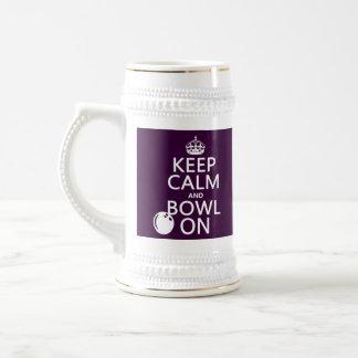 Behalten Sie Ruhe und Schüssel an - alle Farben Bierglas