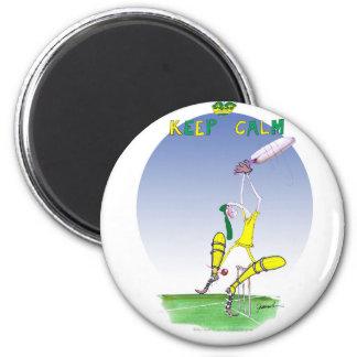 behalten Sie Ruhe und schützen Sie Ihre Kautionen, Runder Magnet 5,1 Cm