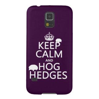 Behalten Sie Ruhe und Schwein hegt ein (Igel) Galaxy S5 Cover
