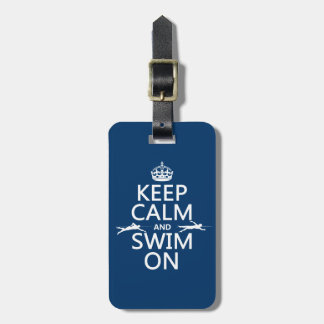 Behalten Sie Ruhe und schwimmen Sie auf (in Gepäckanhänger
